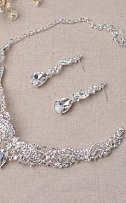 angelo ali di cristallo serie collana set