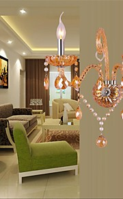 European style bed crystal lamp room background wall lamp
