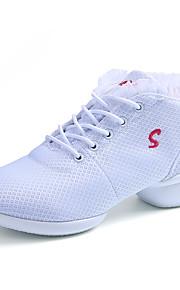 Для женщин-Дерматин-Не персонализируемая(Черный / Красный / Белый) -Танцевальные кроссовки