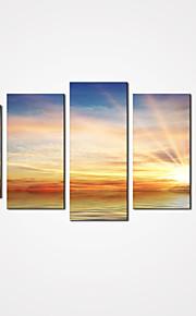 5 Panels Sunrise by Sea Canvas Print Art Modern Landscape Painting for Home Decor Unframed