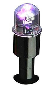 2 stuks intelligent dubbele betekenis van licht autobanden kleurrijke verlichting klep hub lichten
