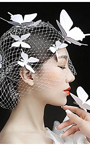 Women's Crystal Headpiece-Wedding Flowers 1 Piece White Animal none