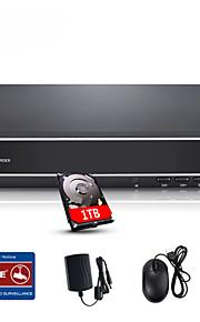 sannce® 4-kanals 720p multi-mode input ecloud hdmi 1080p / vga / BNC cctv-system DVR indbygget 1TB hdd