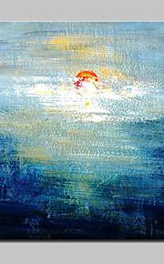 Maalattu Abstrakti Moderni,1 paneeli Kanvas Hang-Painted öljymaalaus