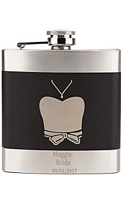 Personalized Wedding Party Gifts, Stainless Steel Engraved Wedding Flasks,  Bridesmaid Gifts