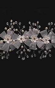 Femme Cristal / Alliage / Imitation de perle / Filet Casque-Mariage / Occasion spéciale Serre-tête 1 Pièce Clair Rond 19cm
