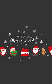 Рождество Наклейки Простые наклейки Декоративные наклейки на стены,PVC материал Влажная чистка / Съемная / Положение регулируется