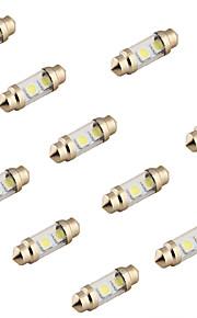 youoklight® 10stk guirlande 36mm 2W 100lm 3-smd5050 6000K hvidt lys førte bil læselampe (12v)