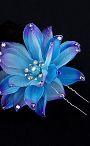 Women's Fabric Headpiece-Wedding / Special Occasion Flowers 1 Piece Multicolor Round