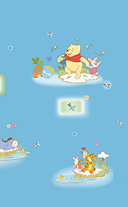 DIY Winnie The Pooh Cartoon Animals Butterfly Wall Stickers Fashion Children's Bedroom Kindergarten Wall Decals
