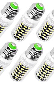 7W E14 / E26/E27 Ampoules Maïs LED T 64 SMD 5733 560 lm Blanc Chaud / Blanc Froid Décorative AC 100-240 V 6 pièces