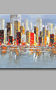 Maalattu Abstrakti Moderni / Classic,1 paneeli Kanvas Hang-Painted öljymaalaus