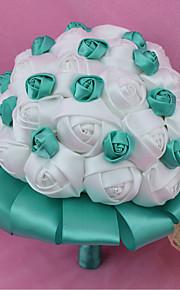 Bouquet sposa Tondo Rose Bouquet Matrimonio Poliestere 18 cm ca.