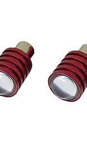2pcs 1156 5W LED de copia de seguridad bombilla de la lámpara de iluminación del automóvil reverso blanco 12v