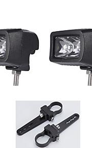 """1.25 """"2x staffe di montaggio + 2pcs 10w fuori strada lampada CREE LED auto luce luce il lavoro di nebbia"""