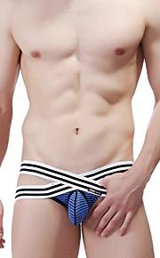 Men's Cotton / Nylon Sexy Stripe G-string Underwear