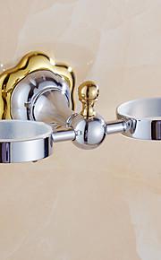 Hammasharjateline / Kylpyhuoneen laitteet / Peilikiillotettu / Seinään asennettu /7.9*3.7*5.9 inch /Messinki /Moderni /20CM 9.5CM 0.9KG