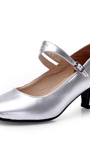 Sapatos de Dança(Preto / Prateado / Dourado / Fúcsia) -Feminino-Não Personalizável-Latina / Moderna