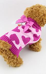 Perros Suéteres Rosa Invierno / Primavera/Otoño Corazones Moda, Dog Clothes / Dog Clothing-Other