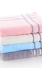 """1 PC Full Cotton Thickening Hand Towel 13"""" by 29"""" Super Soft Stripe Pattern"""