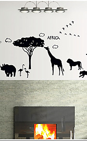Animais Wall Stickers Autocolantes de Aviões para Parede Autocolantes de Parede Decorativos,PVC Material ReposicionávelDecoração para