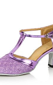 Sapatos de Dança(Preto / Azul / Marrom / Roxo / Cinza / Dourado / Fúcsia) -Feminino-Personalizável-Moderna