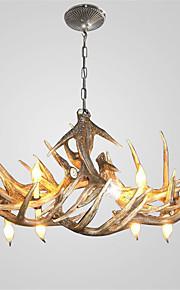 vintage Antler chandelier lighting Industrial Fixture Country 6-Lights Fit for Living Room Dining room Easy Installation