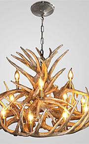 vintage Antler chandelier lighting Industrial Fixture Country 12-Lights for Living Room Dining room Easy Installation