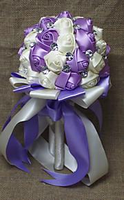 "Wedding Flowers Round Roses Bouquets Wedding Rhinestone 7.09""(Approx.18cm)"
