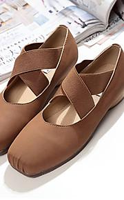 Sapatos de Dança(Preto / Marrom) -Feminino-Não Personalizável-Balé