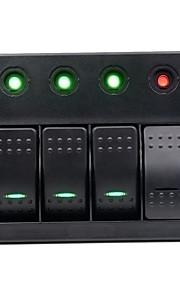 12-24V auto, rv 4-pins enkele lamp 4 4 bi-color led bedieningspaneel switch combinatie