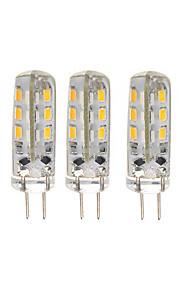 1.5 G4 LED-lamper med G-sokkel T 24 SMD 3014 150 lm Varm hvid / Kold hvid Dekorativ DC 12 V 5 stk.