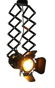 Vintage LED Track Light lofl industrial Spotlight pendant light black track lights spotlights clothes store ceiling lamp