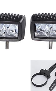 """10W LED verlichting bar offroad boot auto tractor truck suv atv met 3 """"een paar montagebeugels"""