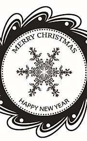 Wall Stickers Wall Decals Style Christmas Snowflake PVC Wall Stickers