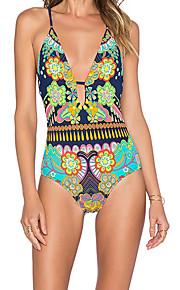 De las mujeres Bikini-Boho / Deporte / Con Lazo / Monocolor / Floral / Lunares / GeométricoBandeau-Poliéster