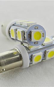 10pcs las luces de posición del coche ba9s 9SMD 5050 llevó el bulbo blanco de placa de auto luz de puerta de la luz (dc12v)