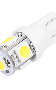 10 stuks 1.5W t10 5SMD 5050 12V achterlicht deur licht kentekenplaatverlichting wit / blauw / rood / geel / groen