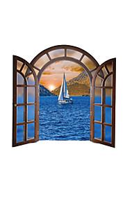 풍경 벽 스티커 플레인 월스티커 데코레이티브 월 스티커,PVC 자료 이동가능 / 재부착가능 홈 장식 벽 데칼