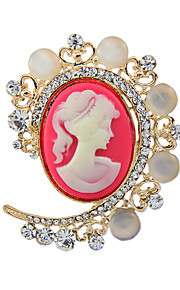 damesmode imitatie parel kristal antiek zilver vintage broche pinnen sieraden koningin strass party broches
