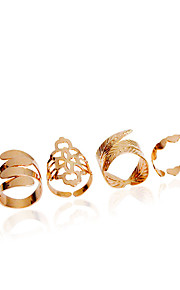 Ring Fashion Wedding / Party Jewelry Alloy Women Midi Rings 1set,Adjustable Gold