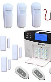 voix sans fil kit de sécurité alarme système d'alarme de sécurité à domicile GSM cambrioleur alarma avec 4 mini-détecteur de pir capteur 5