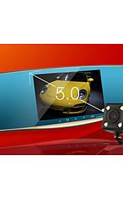 dual lens / 5 inch / rijden recorder / achteruitrijden image / parkeren monitoring / groothoek HD / nachtzicht