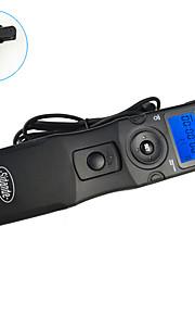 sidande® 7102 lcd tid bortfalder Intervalometer fjernbetjening timer udløserknappen til canon 7d / 6d / 5d2 / 5d3