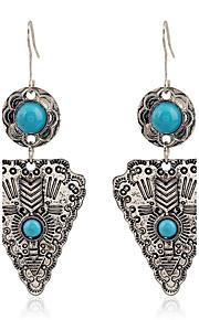 Forme Géométrique,Bijoux 1 paire Vintage / Bohemia style Doré / Argent / Bleu Alliage / Résine / Plaqué argent / Plaqué orQuotidien /