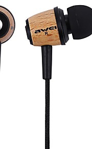 Awei Q9 Super Bass Wooden Headphones Earphones Headsets Fiber Cable for Mp3 CellPhone
