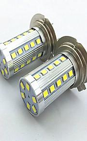 2pcs H7 6w 36 * 2835 SMD 1200lm 6500K / 3500K luz blanca blanca / caliente llevó la lámpara de faro del coche de niebla (12-24)