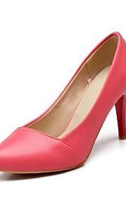 Women's Heels Summer / Fall Heels / Pointed Toe PU Office & Career / Casual Stiletto Heel Split Joint Black / Blue /