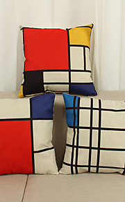 """Modern Style Full Cotton Pillow Case 17"""" by 17"""" Plaid Pattern"""
