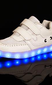 Черный / Белый-Для девочек-Для занятий спортом-Тюль / Ткань-На плоской подошве-Удобная обувь-Кеды
